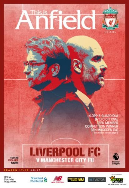 This Is Anfield — Liverpool FC V Manchester City FC — 14 January 2018