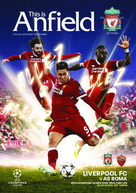 This Is Anfield – Liverpool FC Programmes – 25 April 2018