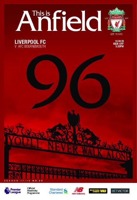 This Is Anfield – Liverpool FC Programmes – 15 April 2018