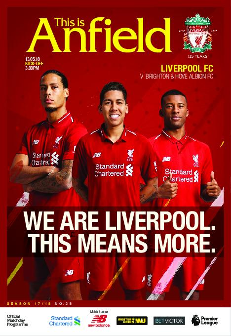 This Is Anfield – Liverpool FC Programmes – 14 May 2018