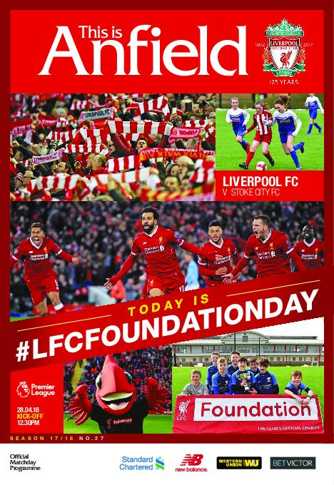 This Is Anfield – Liverpool FC Programmes – 29 April 2018