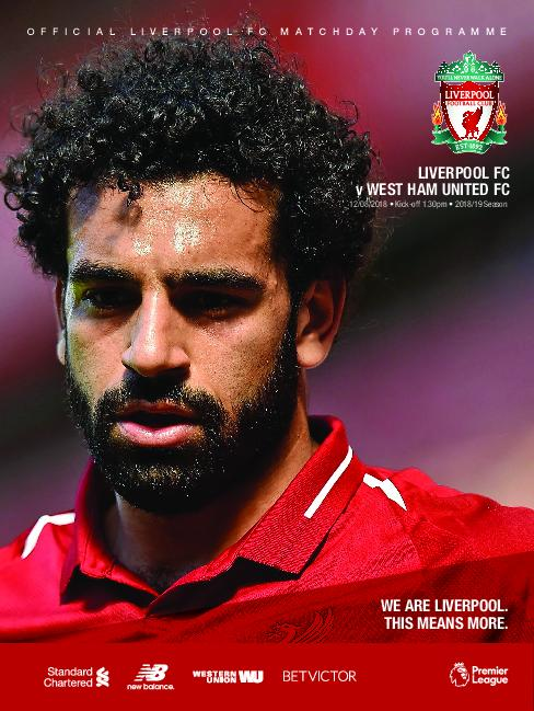 This Is Anfield – Liverpool FC Programmes – 13 August 2018