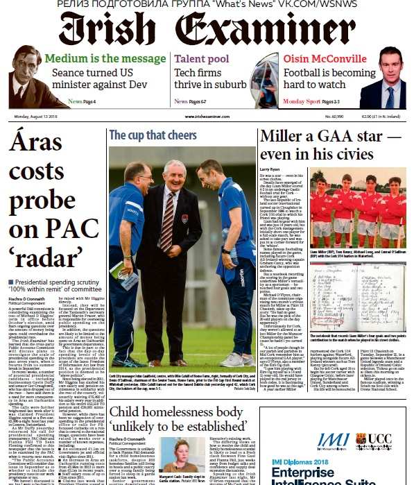 Irish Examiner – 13.08.2018