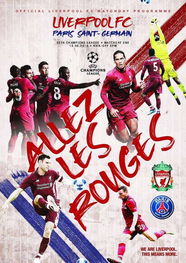 This Is Anfield – Liverpool FC Programmes – 18 September 2018