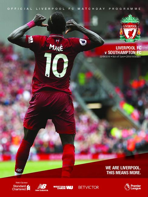This Is Anfield – Liverpool FC Programmes – 22 September 2018