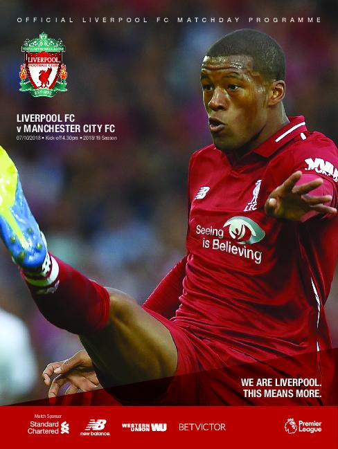 This Is Anfield – Liverpool FC Programmes – 07 October 2018