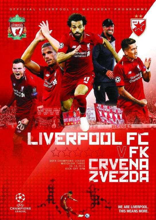 This Is Anfield – Liverpool FC Programmes – 25 October 2018