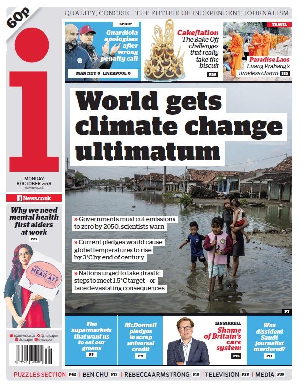The I Newspaper – 08.10.2018