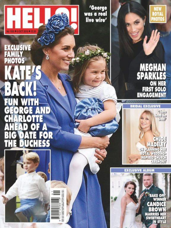 Hello! Magazine UK – 15 October 2018