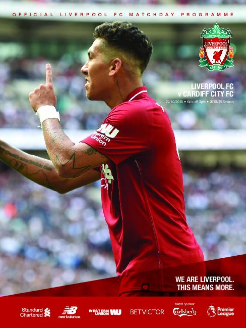 This Is Anfield – Liverpool FC Programmes – 27 October 2018