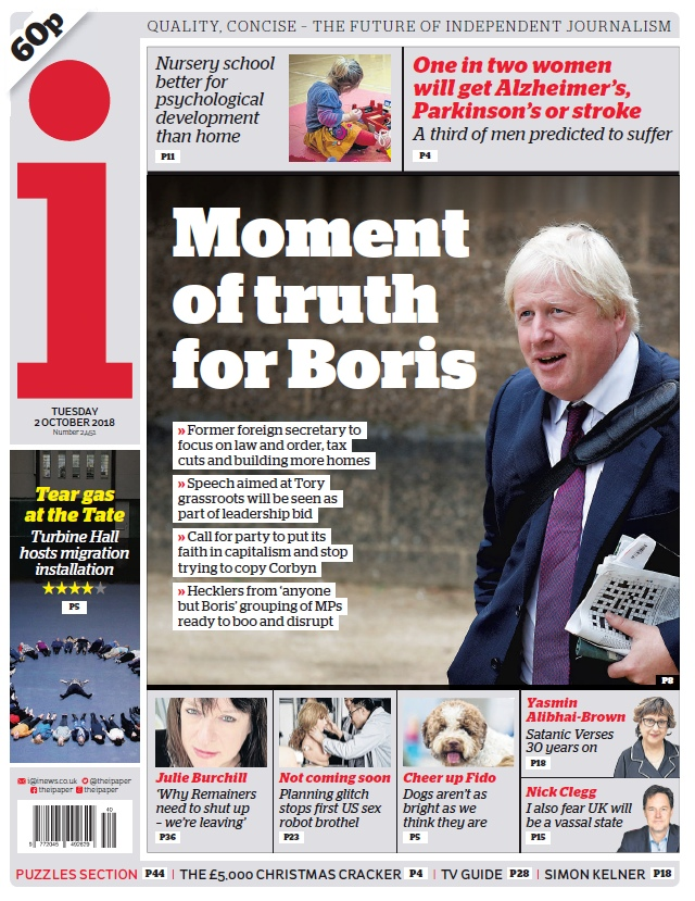The I Newspaper – 02.10.2018