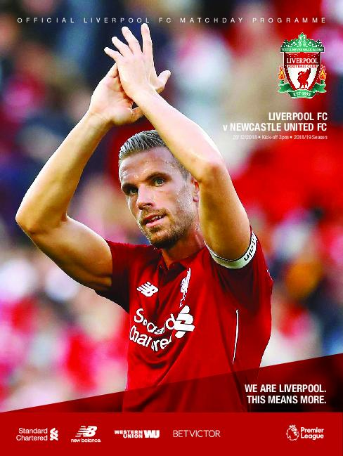 This Is Anfield – Liverpool FC Programmes – 25 December 2018