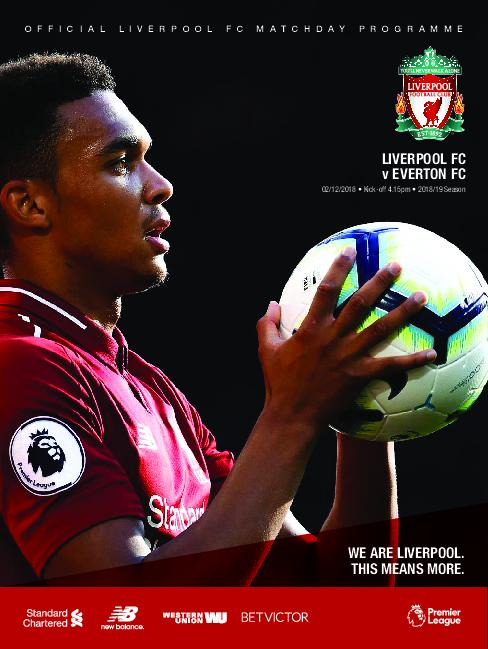 This Is Anfield – Liverpool FC Programmes – 02 December 2018