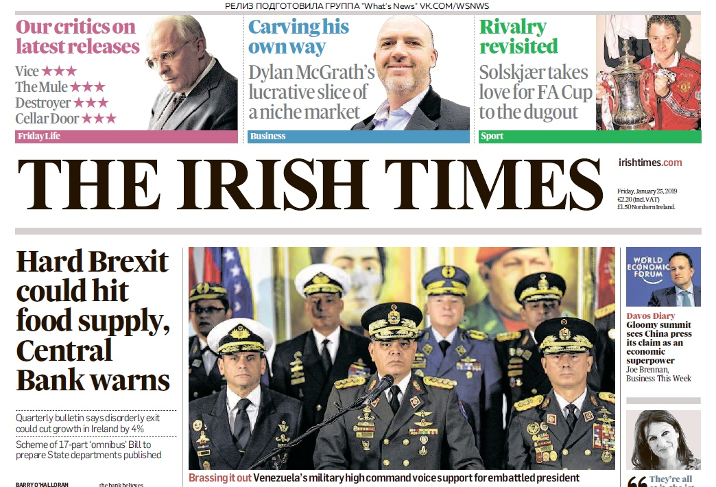 The Irish Times – 25.01.2019