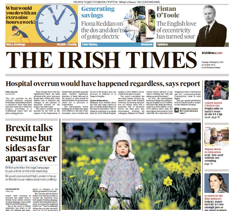The Irish Times – 19.02.2019