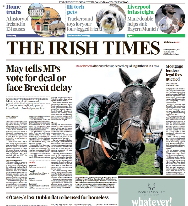 The Irish Times – 14.03.2019