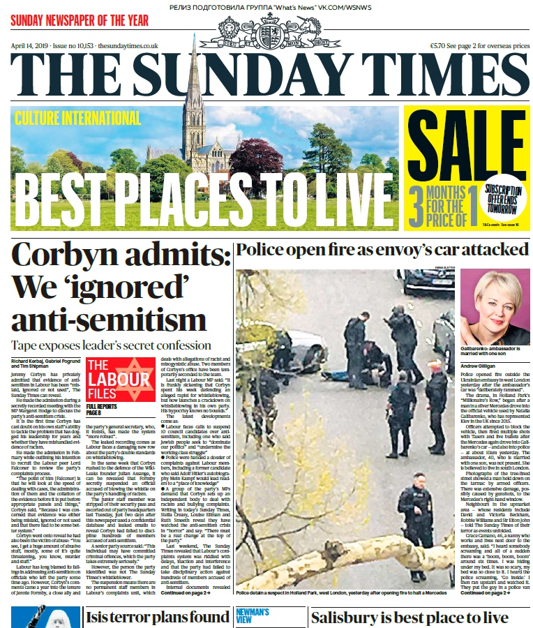 The Sunday Times – 14.04.2019