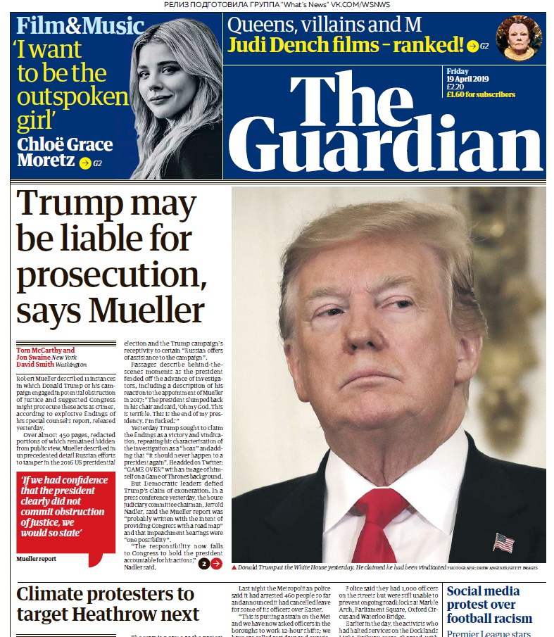 The Daily Telegraph – 19.04.2019