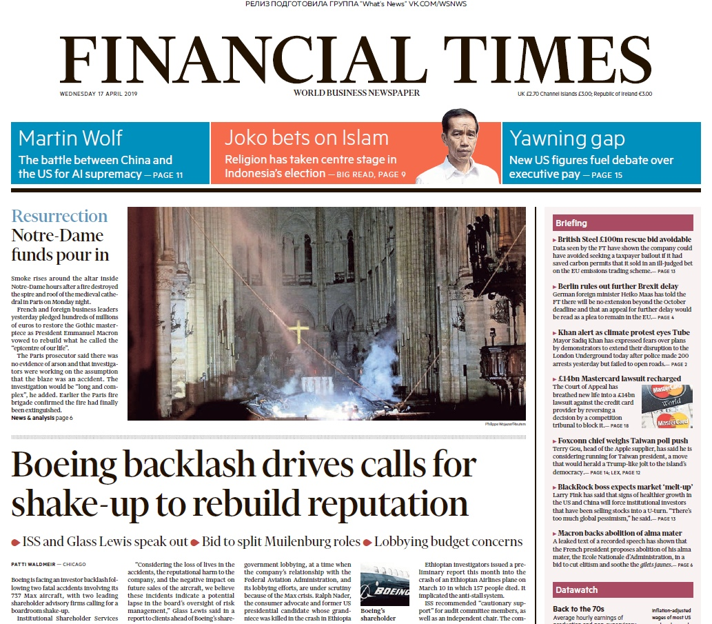 Financial Times UK – 17.04.2019