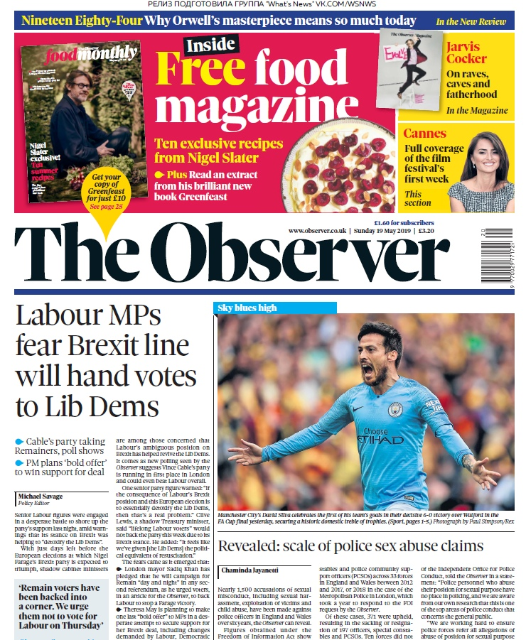 The Observer – 19.05.2019