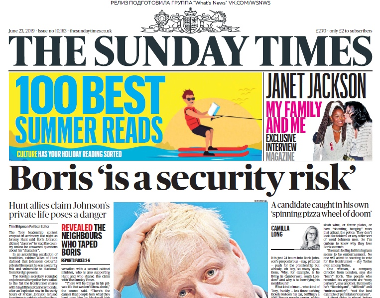 The Sunday Times – 23.06.2019