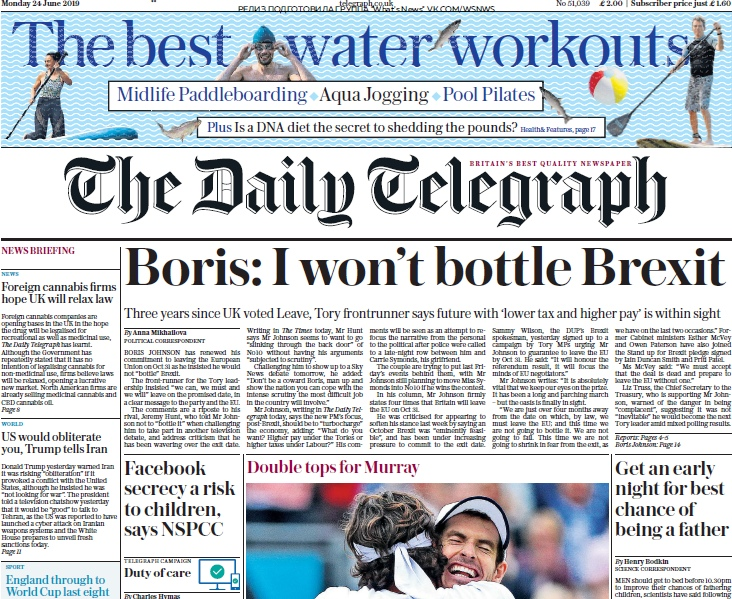 The Daily Telegraph – 24.06.2019
