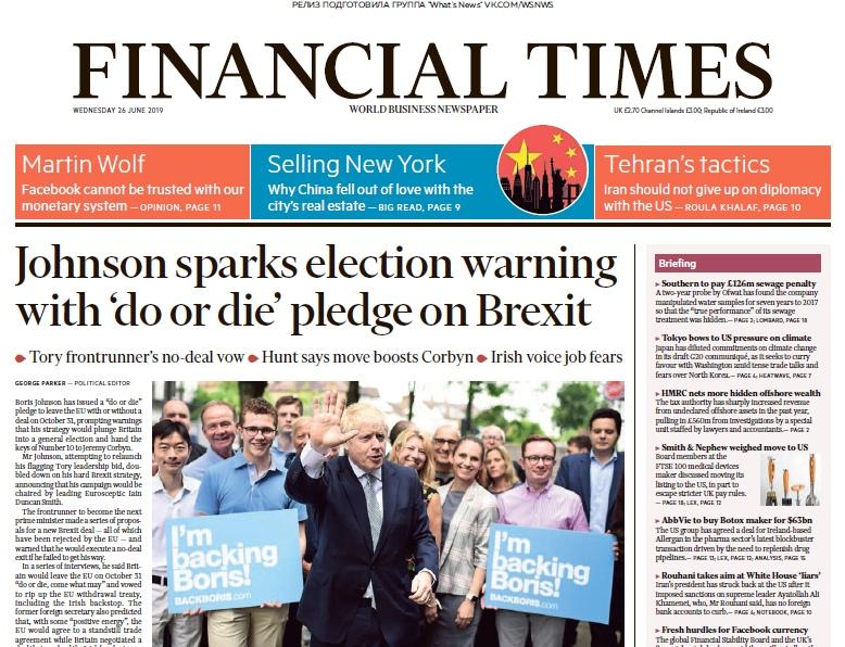 Financial Times UK – 26.06.2019