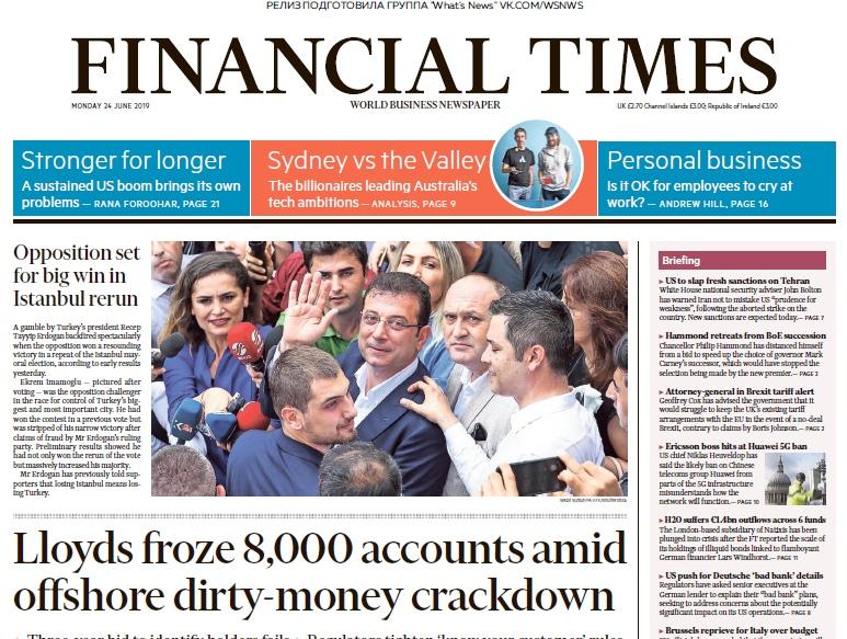 Financial Times UK – 24.06.2019