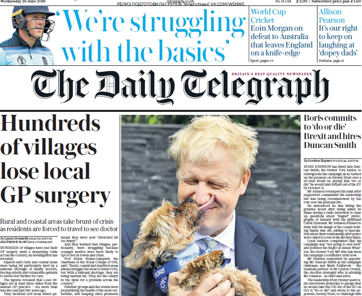 The Daily Telegraph – 26.06.2019