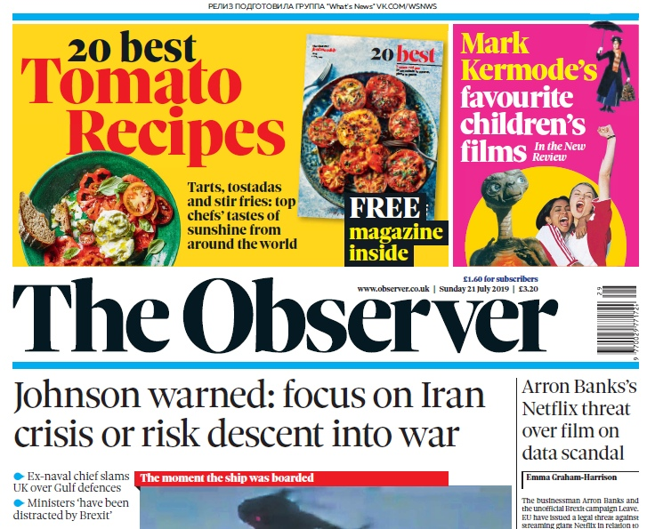 The Observer – 21.07.2019