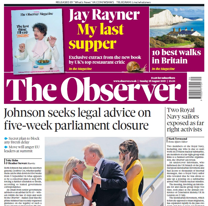 The Observer – 25.08.2019