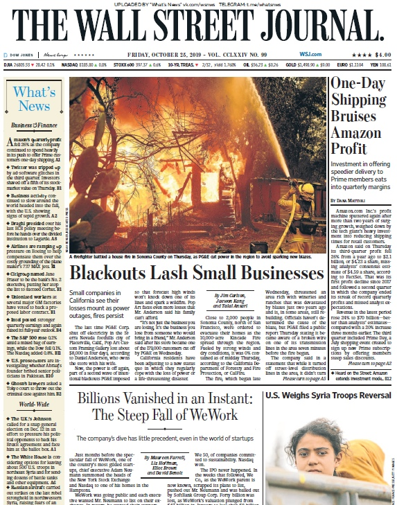 The Wall Street Journal – 25.10.2019