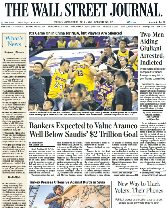 The Wall Street Journal – 11.10.2019