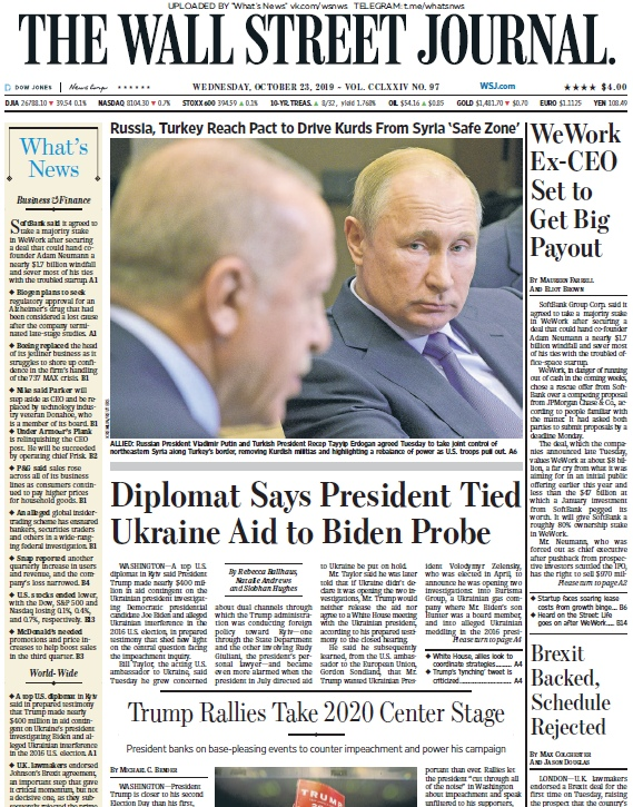 The Wall Street Journal – 23.10.2019