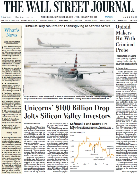 The Wall Street Journal – 27.11.2019
