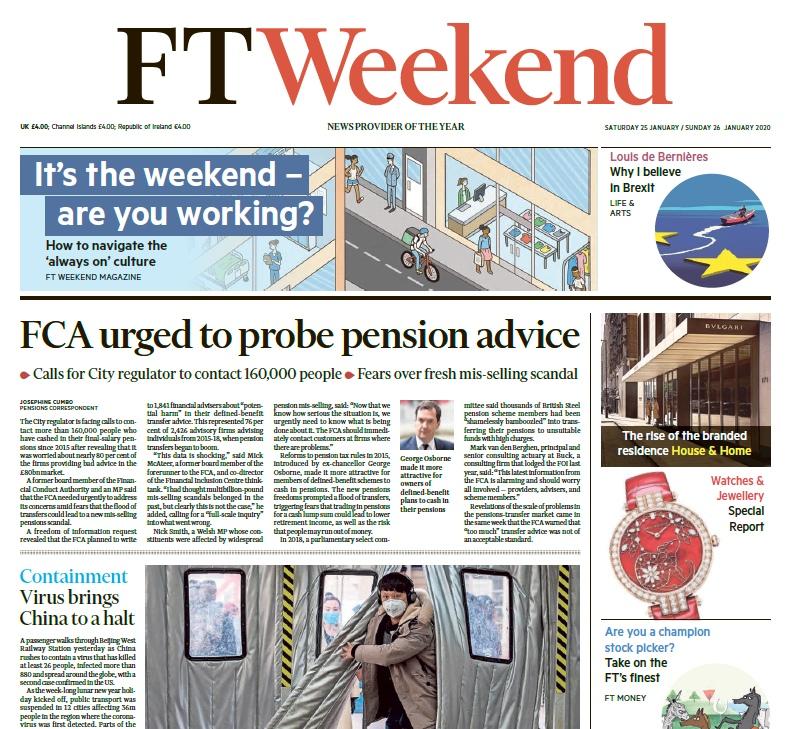 Financial Times UK – 25.01.2020 – 26.01.2020