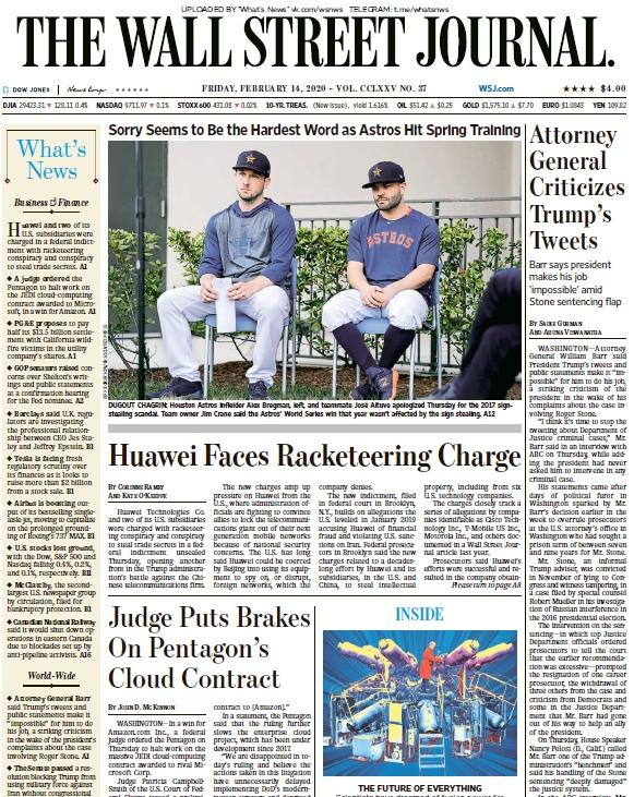 The Wall Street Journal – 14.02.2020