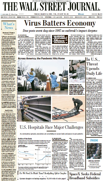 The Wall Street Journal — 13.03.2020