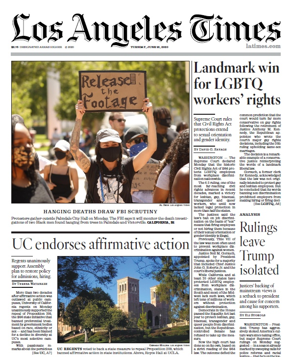 Los Angeles Times — 16.06.2020