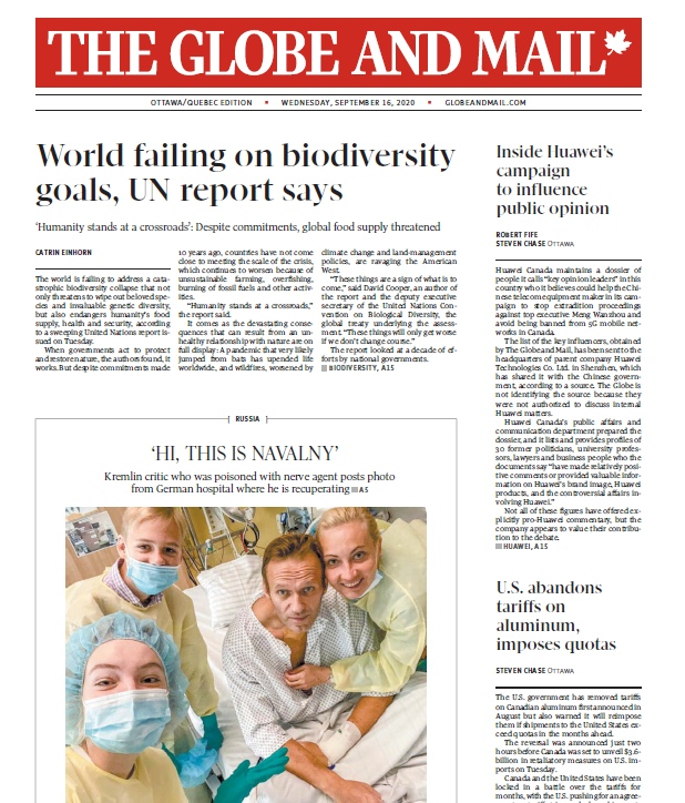 The Globe And Mail – 16.09.2020