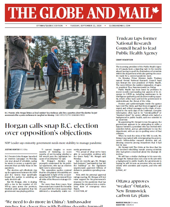 The Globe And Mail – 22.09.2020