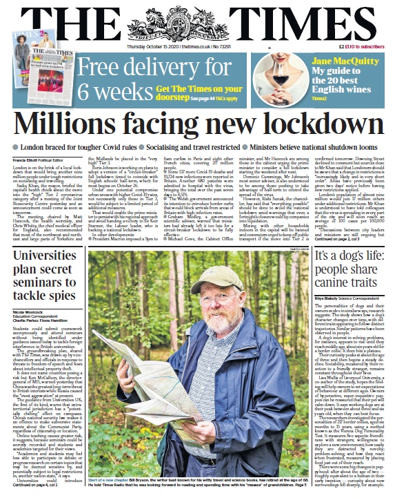 The Times – 15.10.2020
